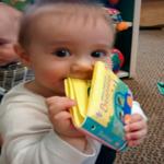 infant book handling