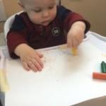 infant scribbling